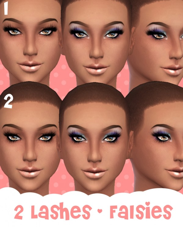 Mod The Sims: 2 Lashes   Falsies by Cloud9sims
