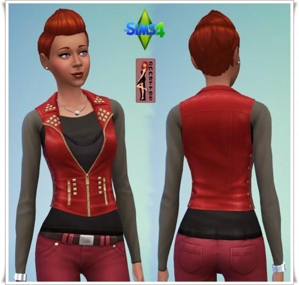 Annett`s Sims 4 Welt: Long sleeve Shirt with Vest