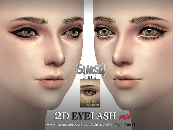The Sims Resource: LL eyelash 01by S Club