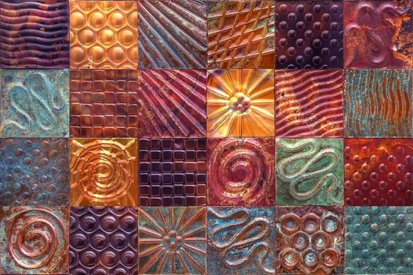 Embossed Metal Wall Art Embossed Metal Art Wall