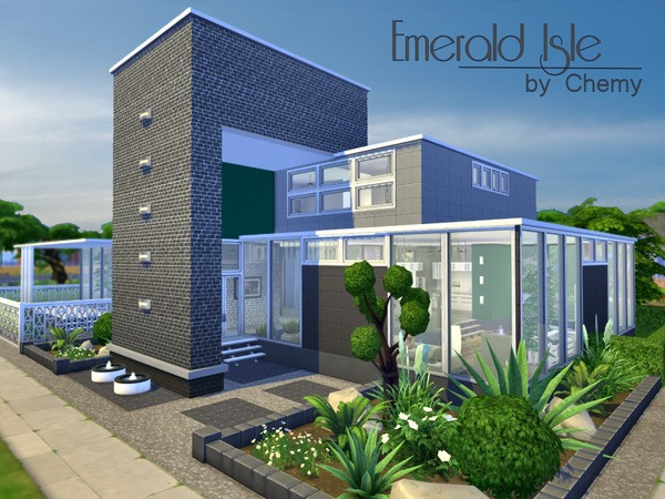 The sims resource emerald isle residential house by chemy for Home design resources