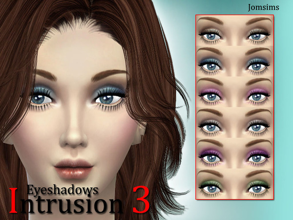 The Sims Resource: Eyeshadows intrusion 3 by JomSims