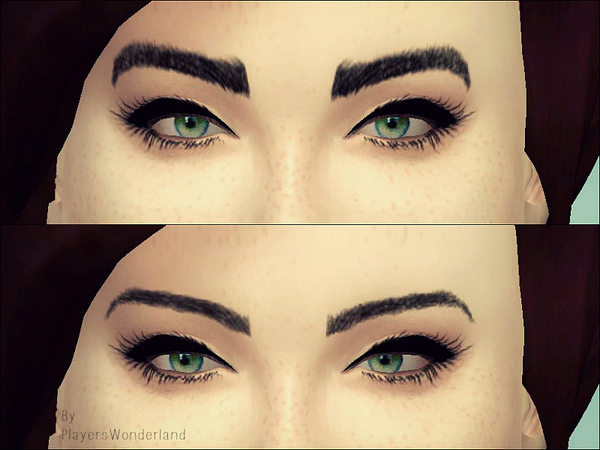 The Sims Resource: Eyebrow Set 01 by PlayersWonderland