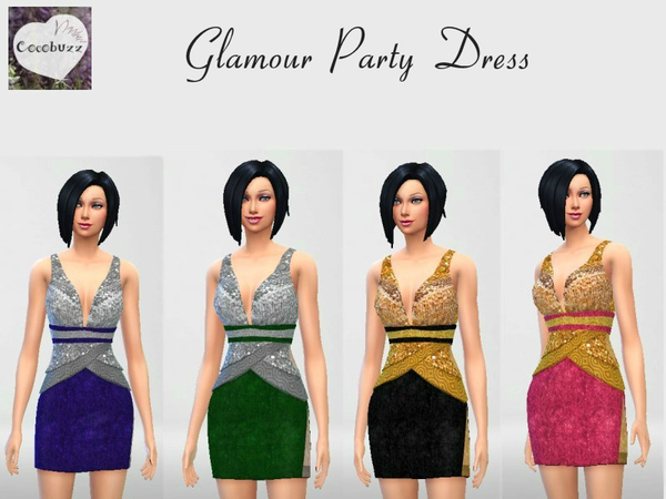 The Sims Resource: Glamour Party Dress by Cocobuzz