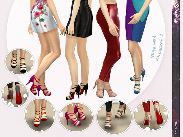The Sims Resource: High Heel Strappy Shoes by Simsimay