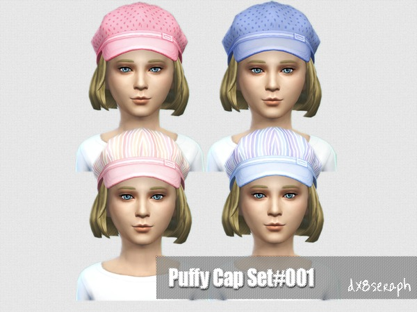 The Sims Resource: Child Puffy Cap Set#001 by dx8seraph