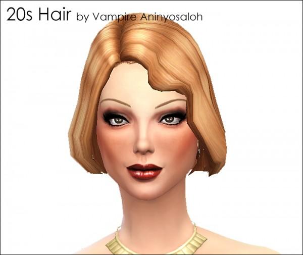 Mod The Sims: 20s Hair   new mesh by Vampire aninyosaloh