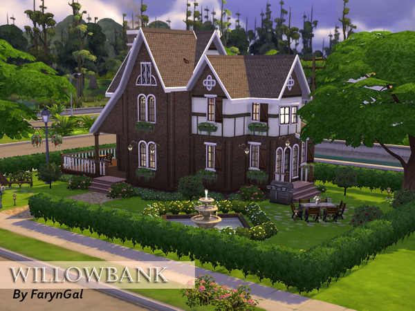 The Sims Resource: WillowBank house by FarynGal