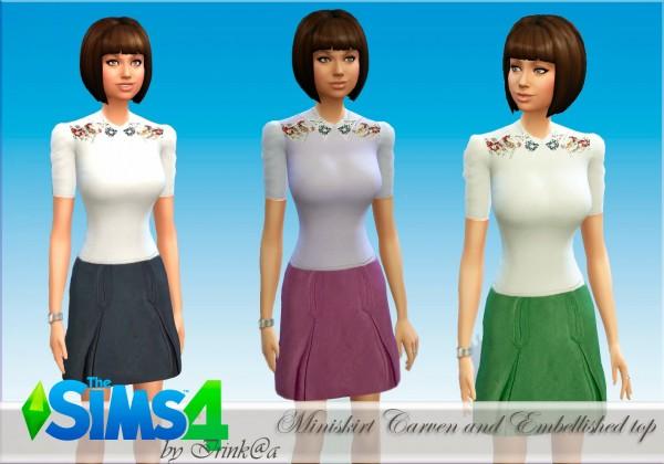 Irinka: Set miniskirt and top
