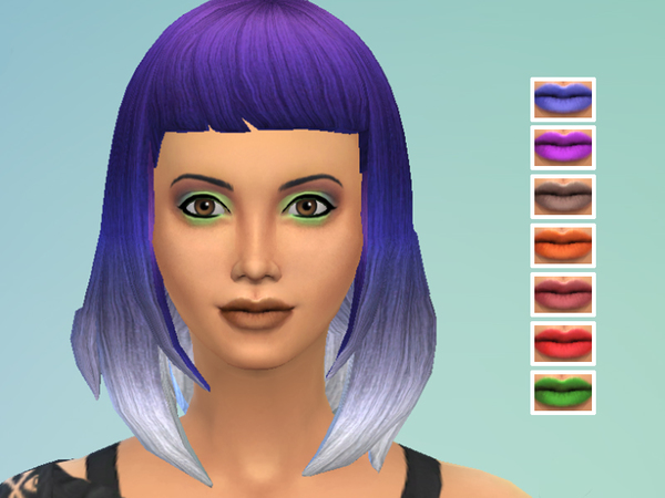 The Sims Resource: Not Your Mommas Matte Lipstick by drea1219