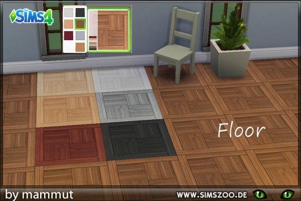 Blackys Sims 4 Zoo: Wood Quadro floor by mammut