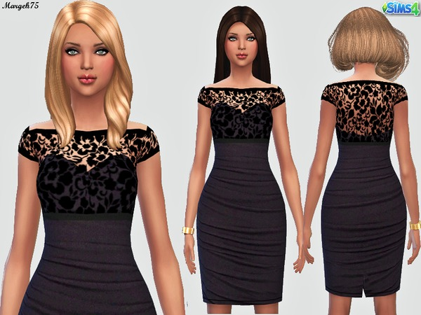 The Sims Resource: Ruffled Lace Dress by Margeh 75