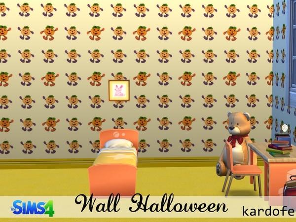 The Sims Resource: Halloween walls by Kardofe