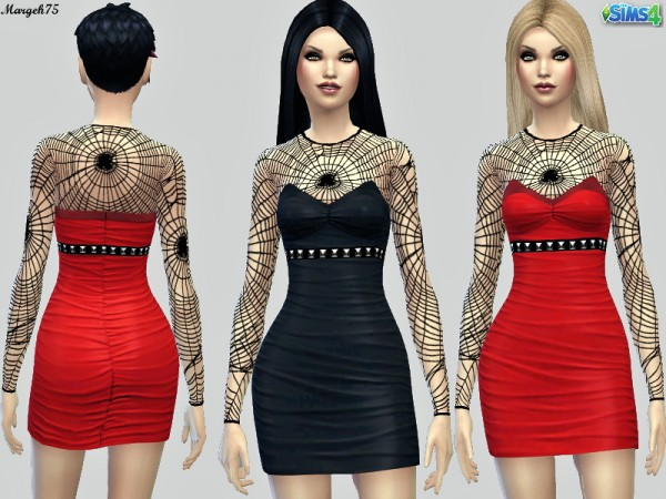 Sims 3 Addictions: Spiderweb Dress by Margies Sims