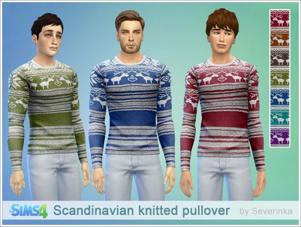 Sims by Severinka: Scandinavian knitted pullover
