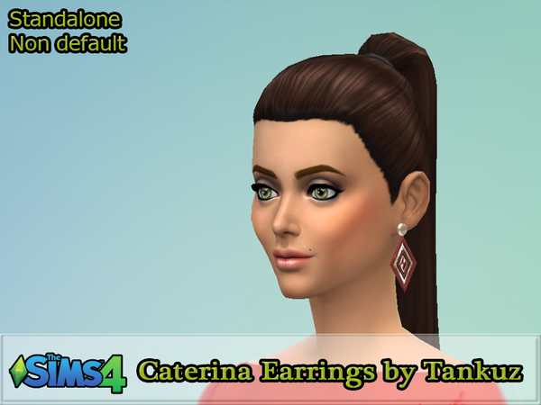 The Sims Resource: Caterina Earrings by Tankuz