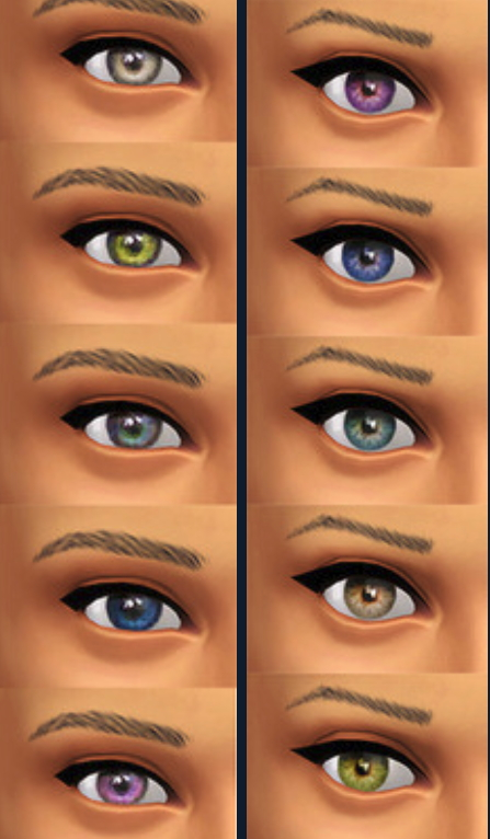Seventhecho Default Replacements For New Eye Colors Sims 4 Downloads