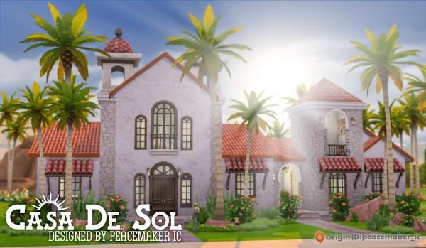 Simsational designs: Casa De Sol   Mediterranean House