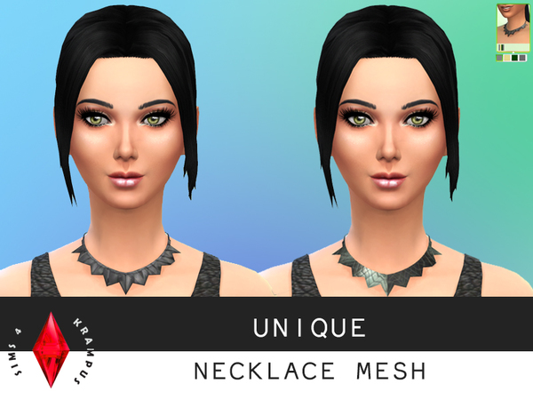 The Sims Resource: Unique Necklace Mesh by SIms4Krampus