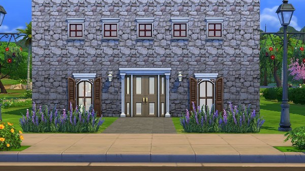 Mod The Sims: Stone wall by malicieuse75