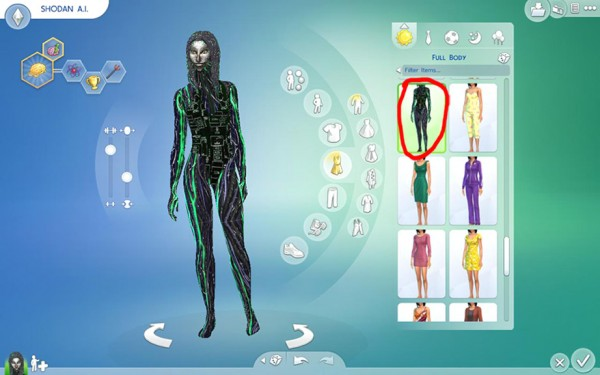 Mod The Sims: SHODAN from System Shock SCI FI sims model by Esmeralda