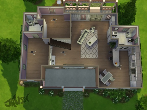 The Sims Resource: Rosewood Drive residential lot by Jaws3