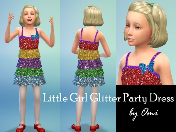 The Sims Resource: Little Girl Party Dress by Ominator