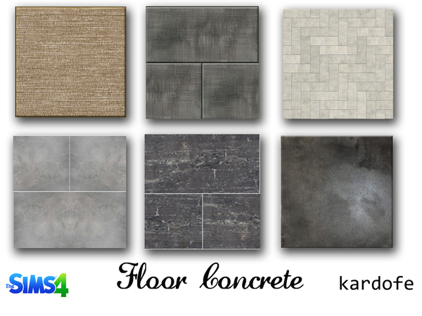 The Sims Resource: Concrete floors by kardofe