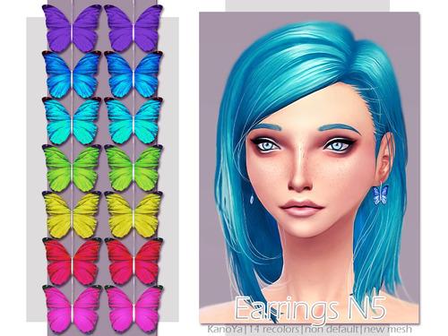 KanoYa Sims: Earrings Butterfly