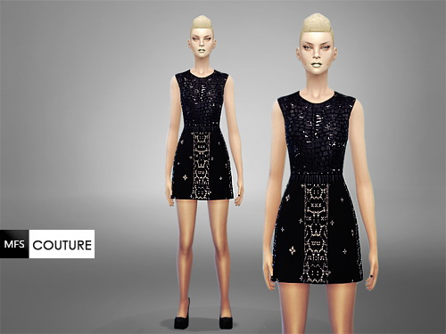 MissFortune Sims: Black Swan Dress