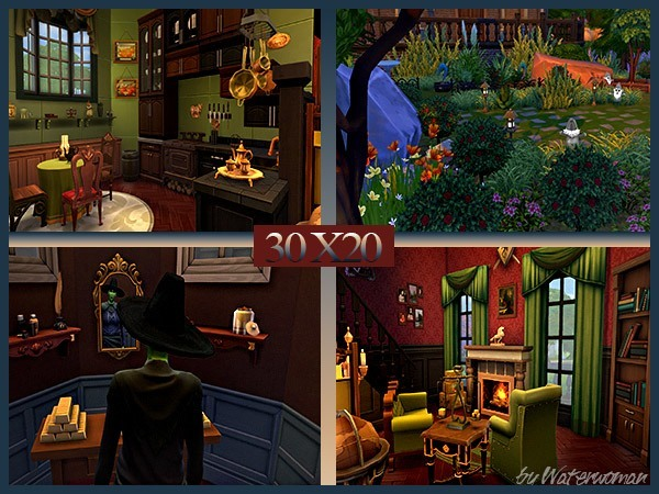 """Akisima Sims Blog: Halloween Special """"Wicked"""" house"""