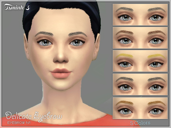 The Sims Resource: Delicate Eyebrow by tsminh 3
