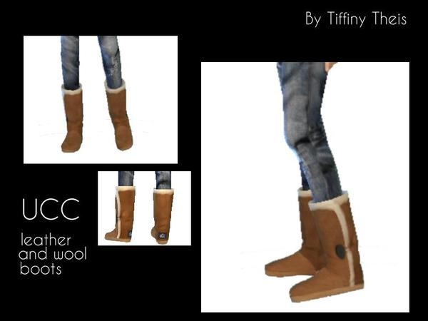 The Sims Resource: 3 Piece Set YAF stripes, boots and denim pants by Tiffybee