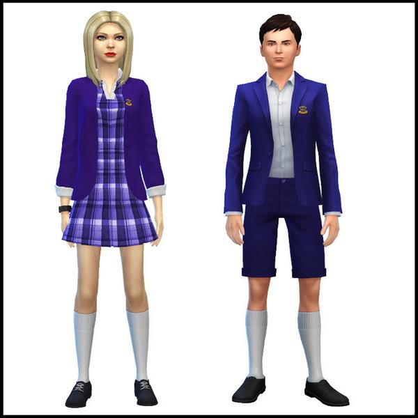Simista: Male And Female School Uniform • Sims 4 Downloads