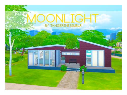 Sims Fans: Moonlight residential house by Tangerinesimblr