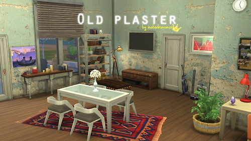 In A Bad Romance Old Plaster Walls Sims 4 Downloads