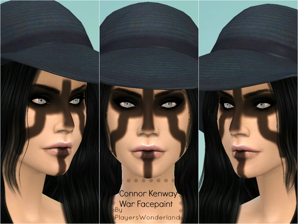The Sims Resource: Connor Kenway Facepaint by PlayersWonderland