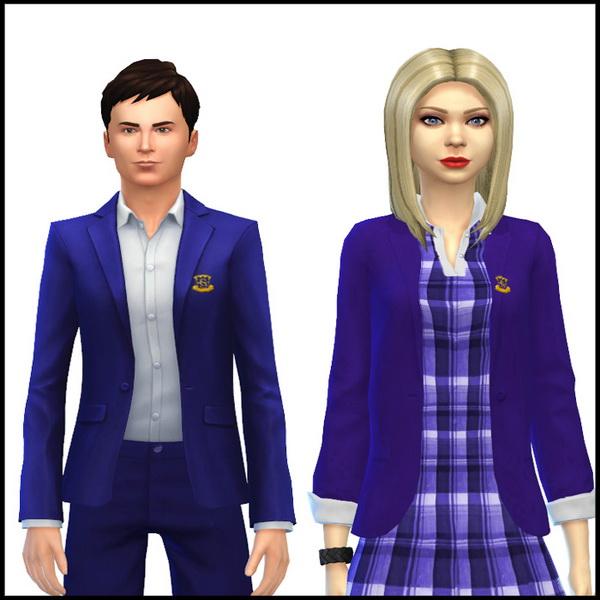 Simista: Male and Female School Uniform