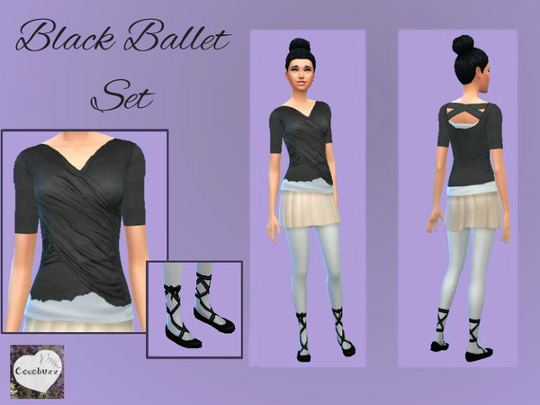 The Sims Resource: Black Ballet Set by Cocobuzz