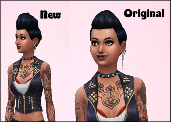 Mod The Sims: Pompadour Spikey Made Bigger hairstyle by JulieJ