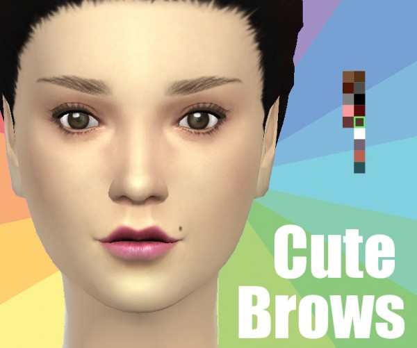 Mod The Sims: Cute Brows by Koodlebug