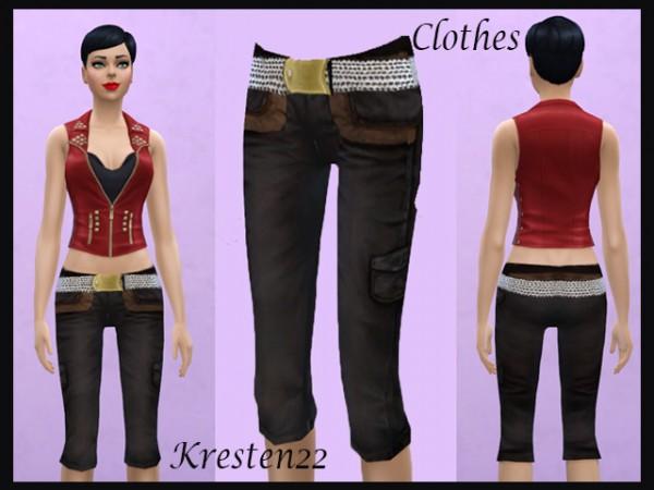Sims Fans: Capri pant by Kresten22