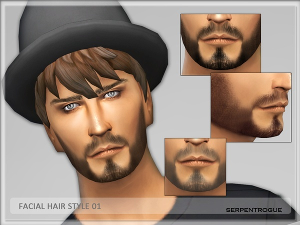 The Sims Resource: Facial Hair 01 by Serpentrogue