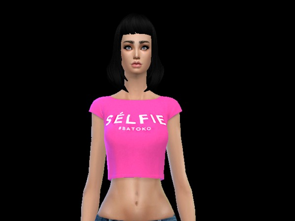 The Sims Resource: Sommer outfit top and miniskirt hot pink by simsoertchen