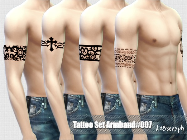 The Sims Resource: Tattoo Set Armband #007 by dx8seraph