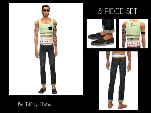The Sims Resource: 3 Piece Set YAM surfer wear by tiffybee
