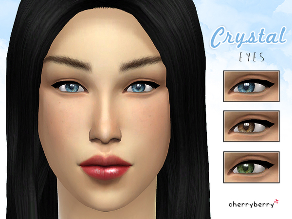 The Sims Resource: Crystal eyes non default by CherryBerrySim