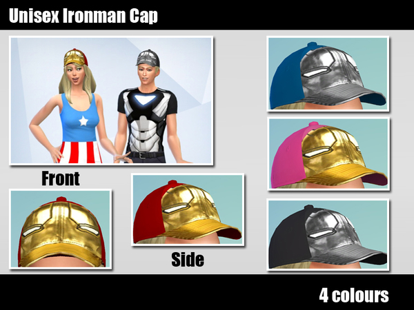 The Sims Resource: Ironman cap by Kronronko