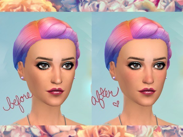 The Sims Resource: Rosy Cheeks and Nose Overlay by Pepstar
