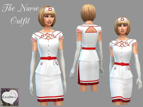The Sims Resource: The Nurses Outfit